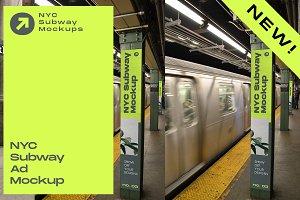 Poster Mockup NYC Subway