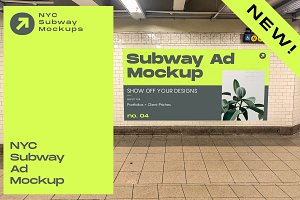 NYC Subway Billboard Mockup