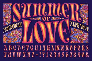Summer of Love Psychedelic Alphabet