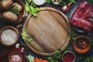 Fresh organic vegetables, ingredient