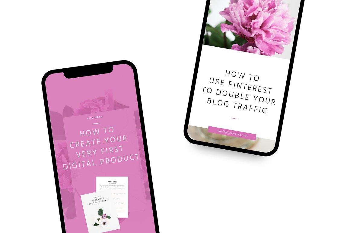 Market Pinterest Templates for Canva
