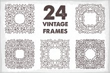 24 Vintage Vector Frames Collection