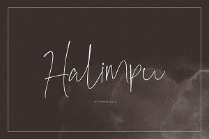 Halimpu | Script Font