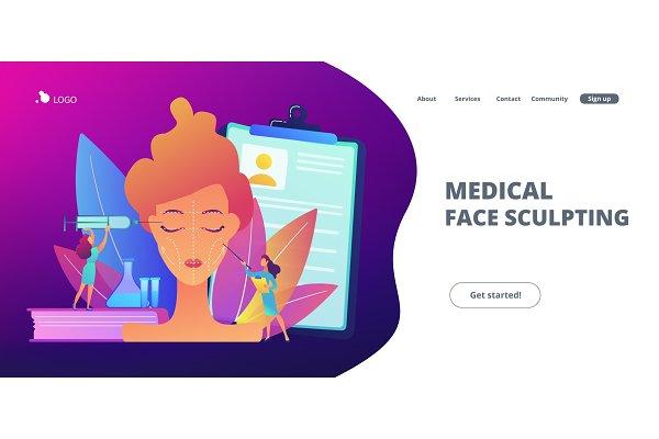 Facial contouring concept landing