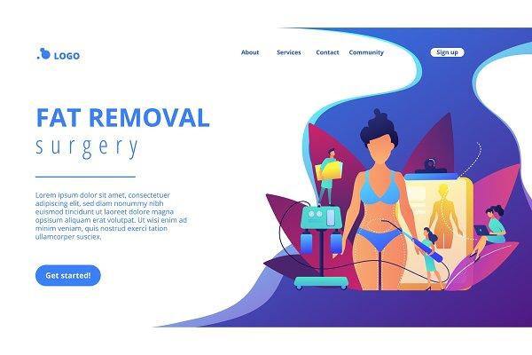 Liposuction concept landing page.