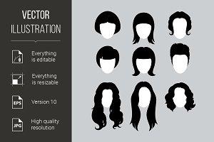 Hair Silhouettes
