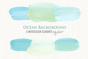 ocean background watercolor