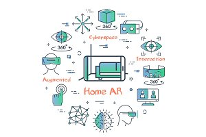 Vector augmented reality for home