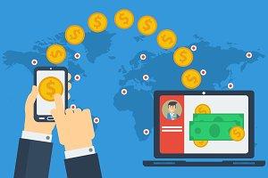 Concept of worldwide money transfer