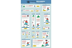Standard size web banners -