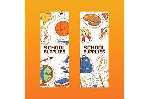 School supplies vector education