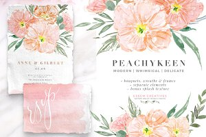 Pink Watercolor Flowers Background