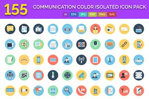 155 Communication Icons Pack