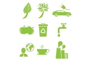 Ecology Green Icons Collection