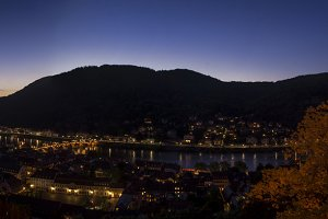 Heidelberg Night Panorama