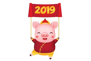 Chiense new year pig 2019