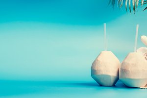 Summer tropical vacation background