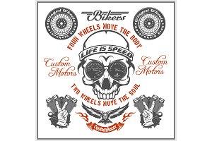 Vintage Motorcycle label, Retro