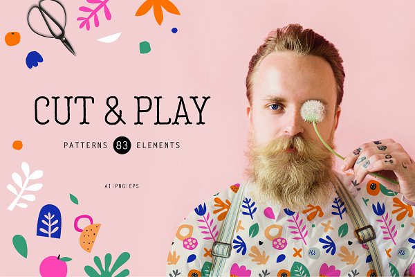 Graphic Patterns: Marish - Cut & Play - seamless patterns