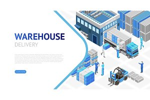 Isometric design of warehouse