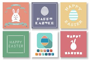 Set of creative Happy Easter cards
