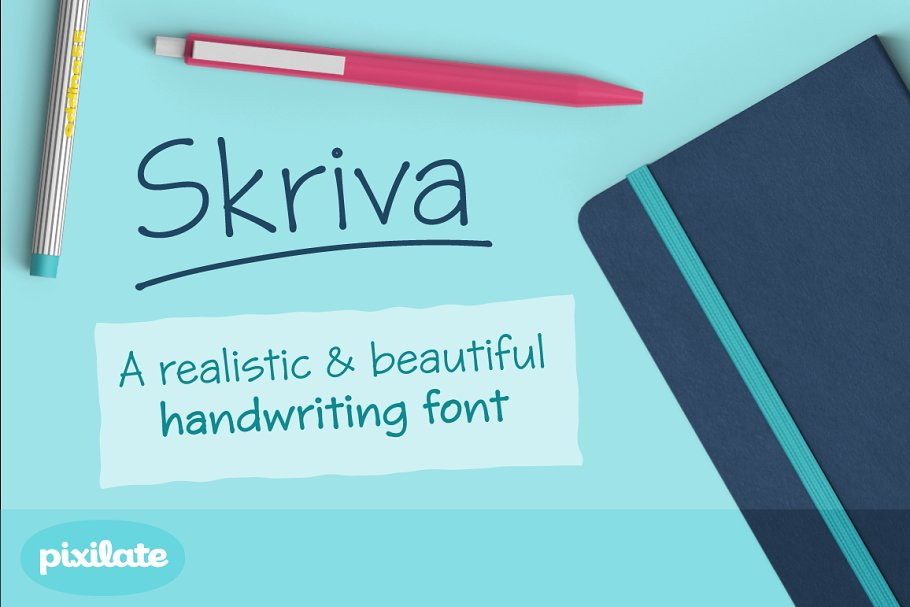 50% off Skriva handwriting font