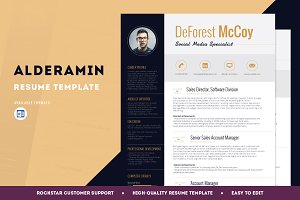 Resume Template - Alderamin