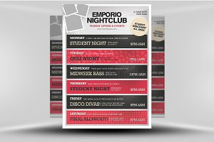 Emporio Nightclub Poster Template