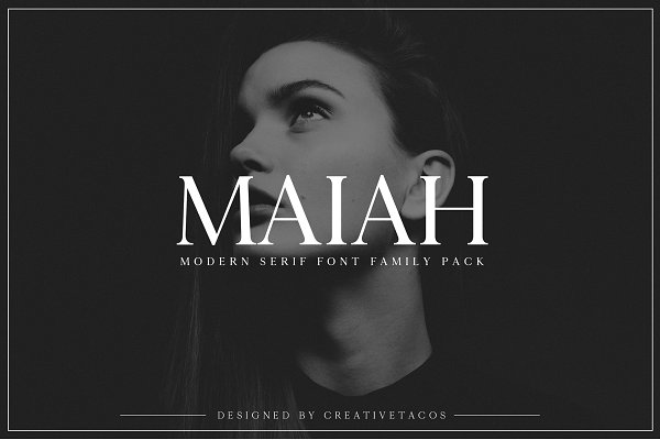 Serif Fonts: Creativetacos - Maiah Serif Font Family Pack