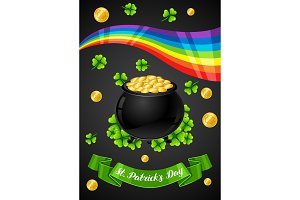 Saint Patricks Day greeting card.