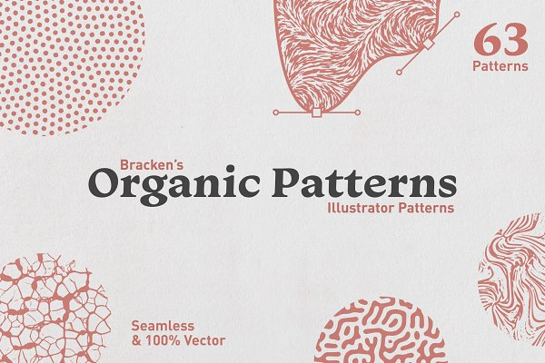 Graphic Patterns: Bracken - Organic Patterns - For Illustrator