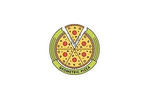 Geometric Pizza Logo