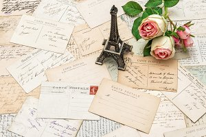 Roses and Postcards from Paris
