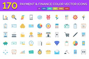 170 Payment & Finance Color Icons