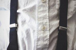 Boy in Suspenders Close Up
