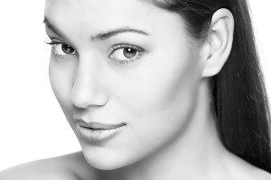 attractive brunette woman portrait