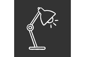 Table lamp chalk icon