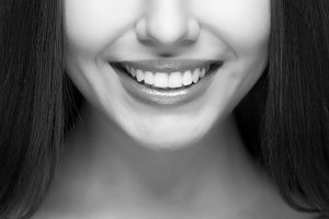 Beautiful woman smile