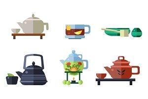 Tea ceremony accessories set, cups