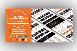 SIX PACK - Yoga & Gym Club Template