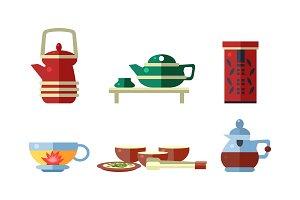 Tea ceremony accessories set