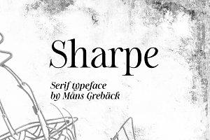 Sharpe - 10 Style HQ Serif Typeface!