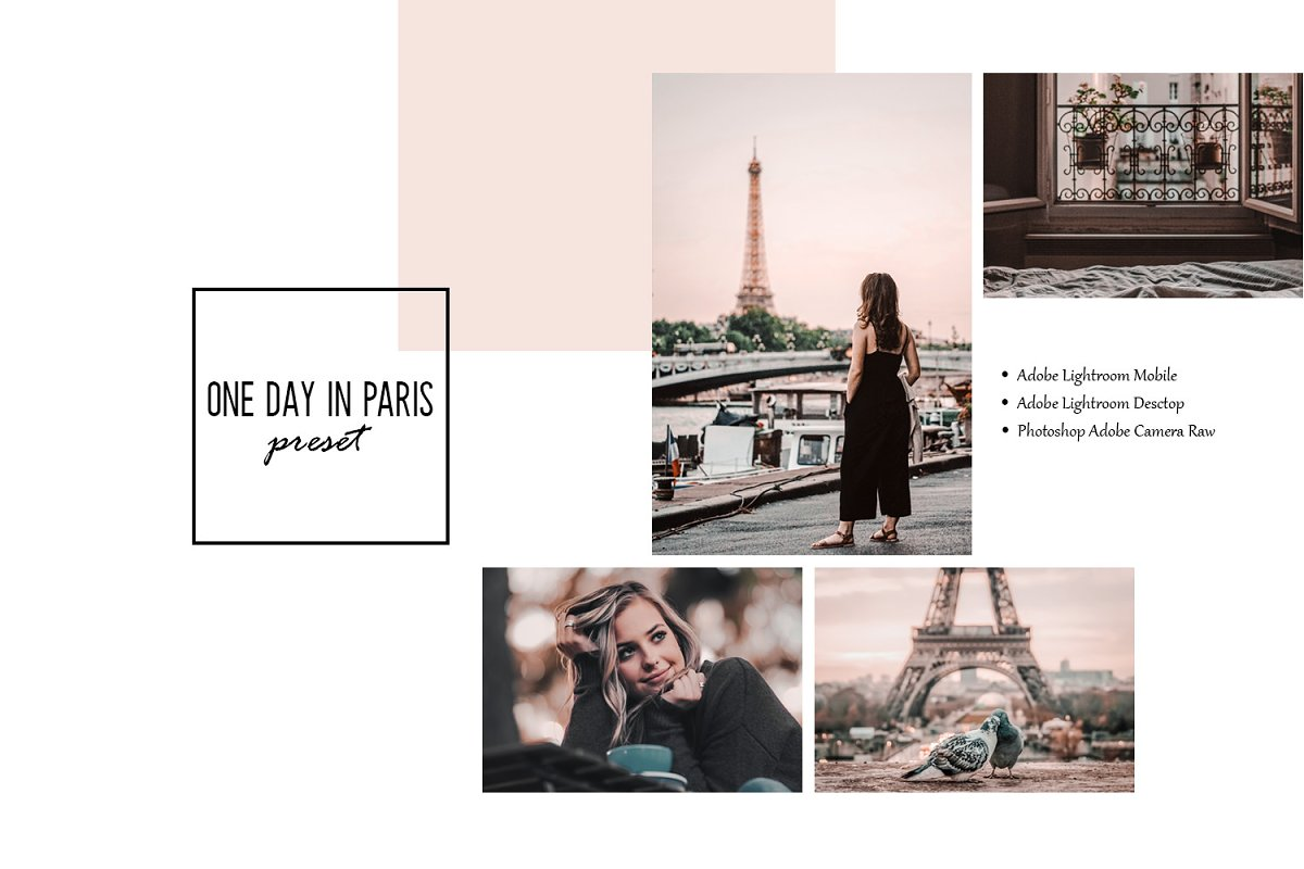 One day in Paris Lightroom Presets