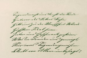 Vintage Handwriting. Manuscript