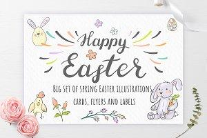 Easter illustrations, cards & labels