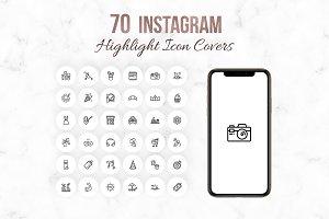 White Instagram Highlight Icons