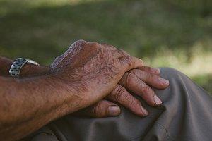 hands of elderly man