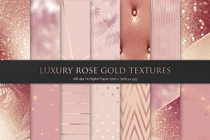 Valentine's Day Rose Gold Textures