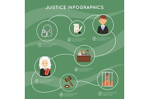 Judge vector justice law court and