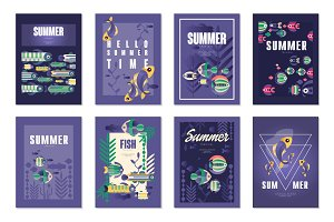Summer holidays, travel and fishing